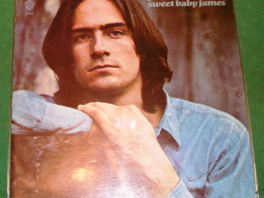 """JAMES TAYLOR *SWEET BABY JAMES* - RARE ETCH """"HI JAMES"""" & """"THAT'S ALL FOLKS"""" * NM 9/10 *"""