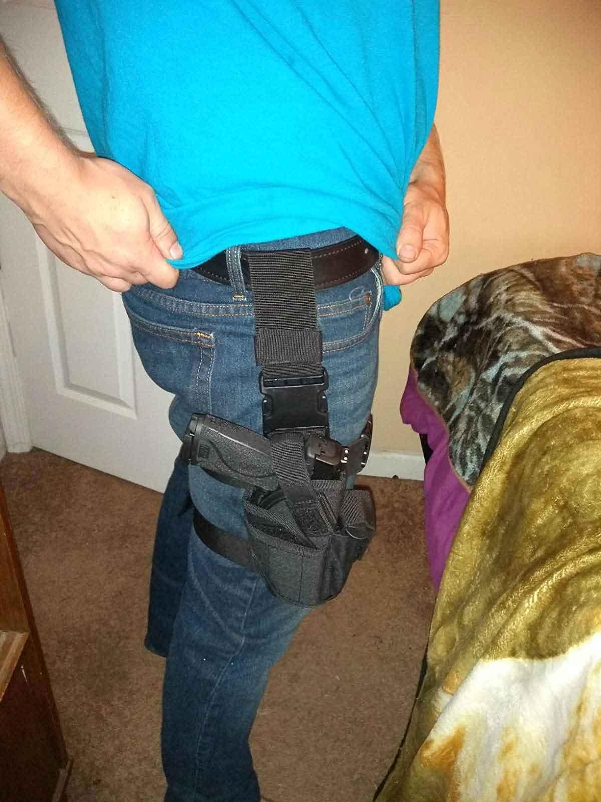 shoulder holster for men, shoulder holster for fat guy, right hand shoulder holster
