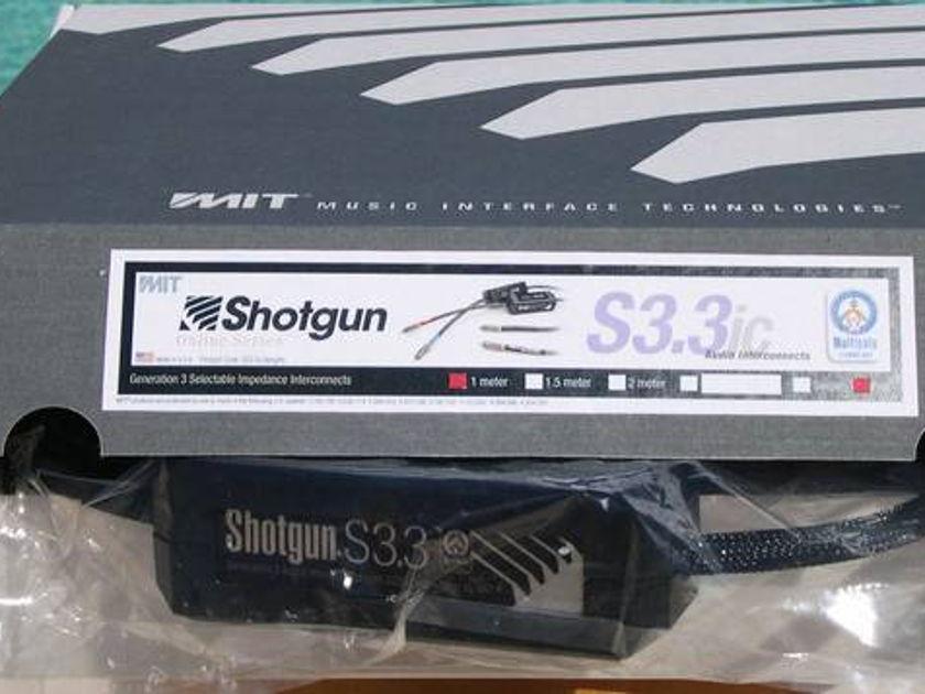 MIT Shotgun S3.3 rca 1m pair  NEW-IN-BOX Gen3 save 40%, lifetime wrnty