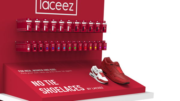 Laceez floor display
