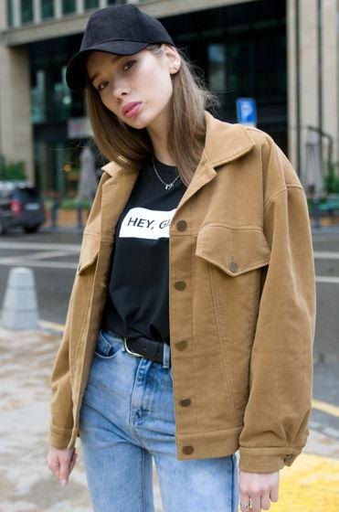 Куртка вельветовая с вышивкой