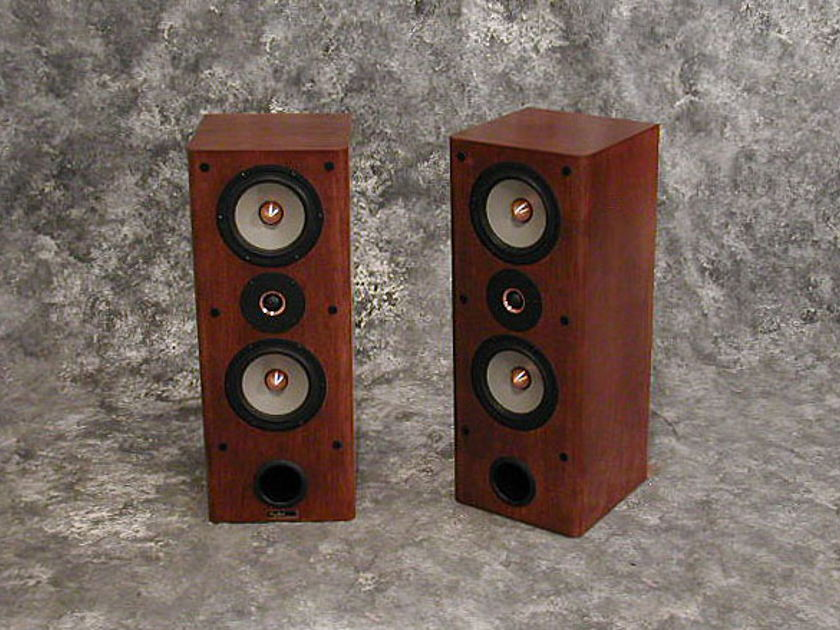 Tyler Acoustics Linbrook sig monitors in red cherry!  warranty!