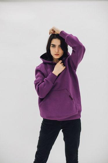 худи oversize (фиолетовый)