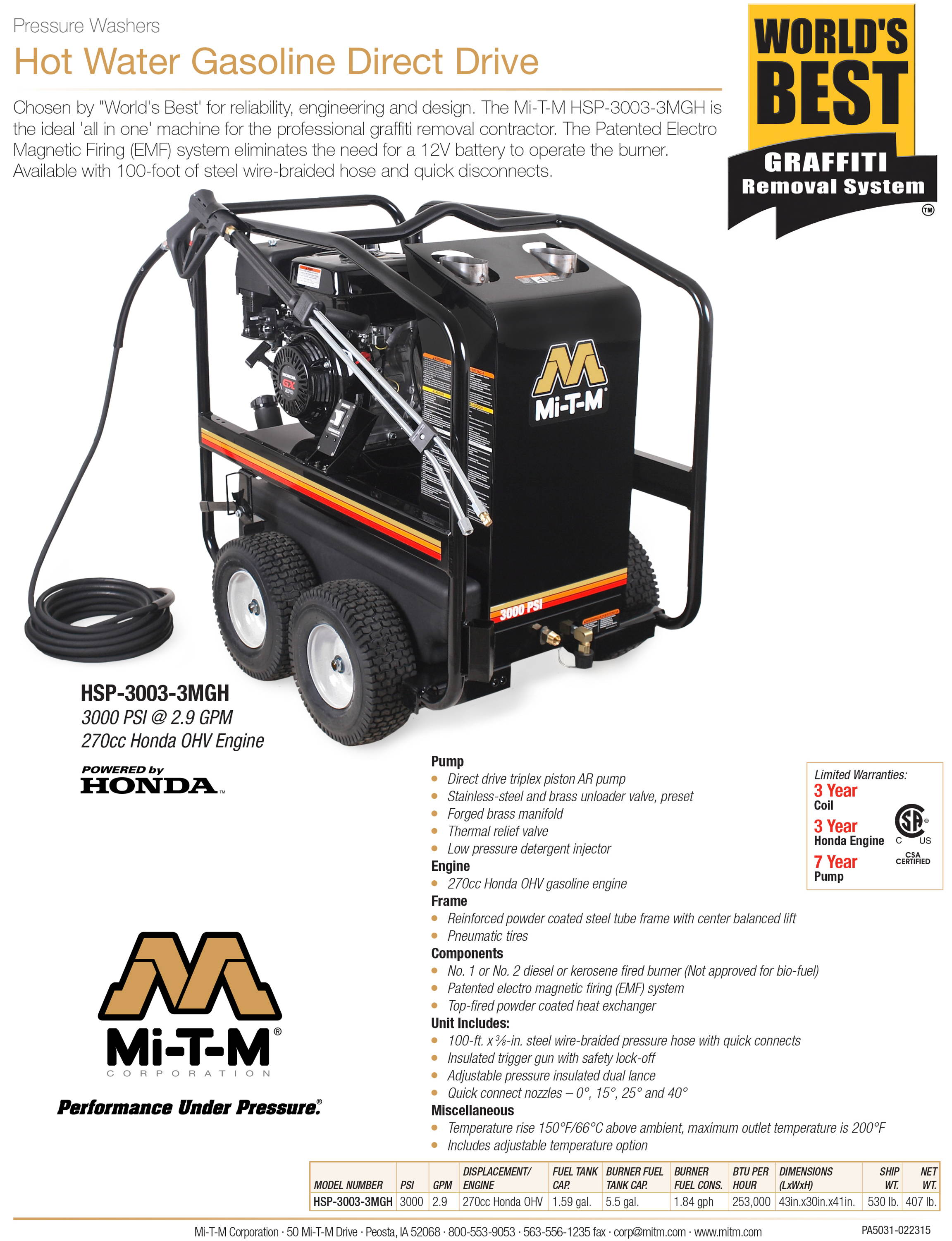 About Mi-T-M Hot Water Pressure Washer and Worlds Best Graffiti Removal System