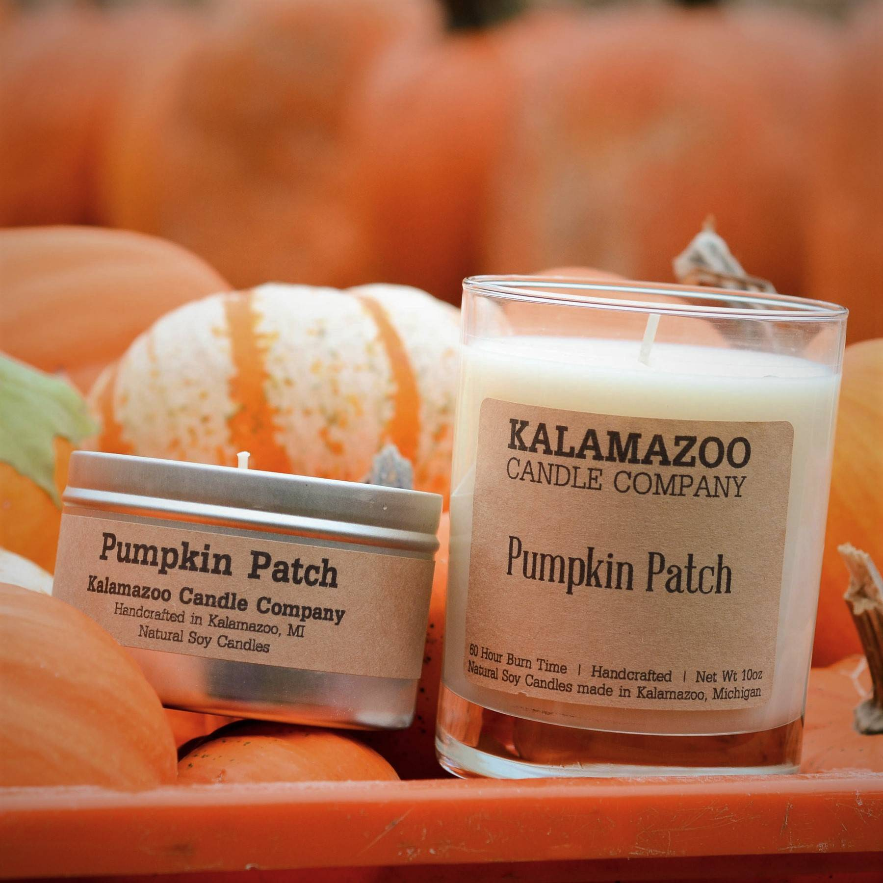Pumpkin Patch natural soy wax scented candle