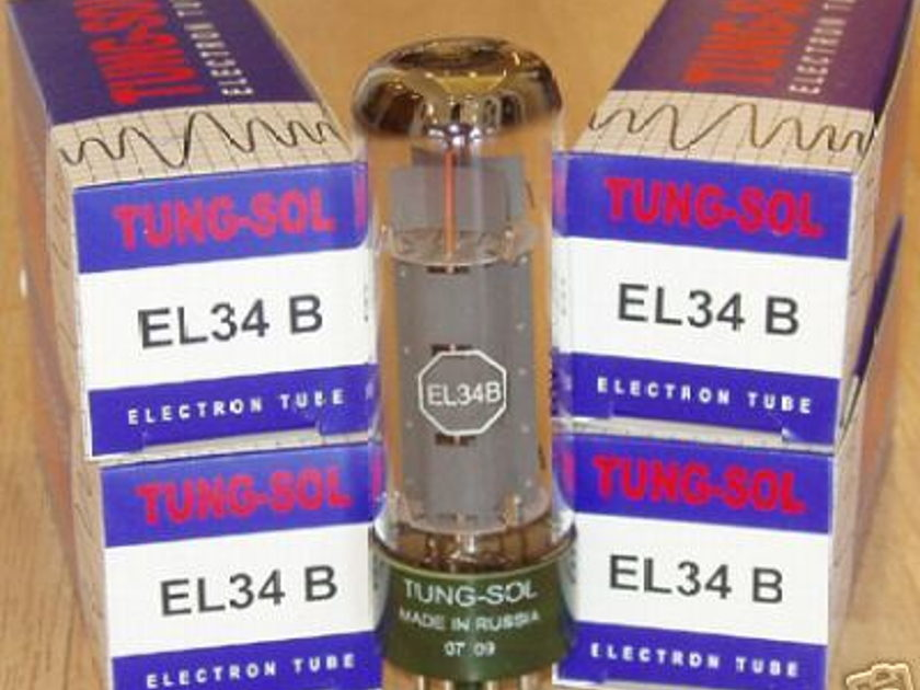 Tung sol EL34 tubes, reissue brand new matched quads !