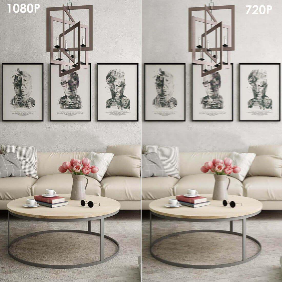 Full 1080p high definition, captures details.