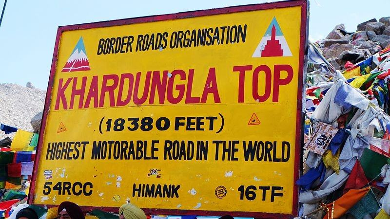 Highest motorable road in the world, Ladakh, India