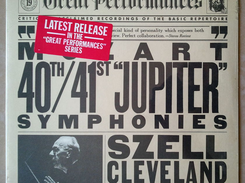 "Sealed CBS   SZELL/MOZART - Symphony Nos. 40 & 41 ""Jupiter"""