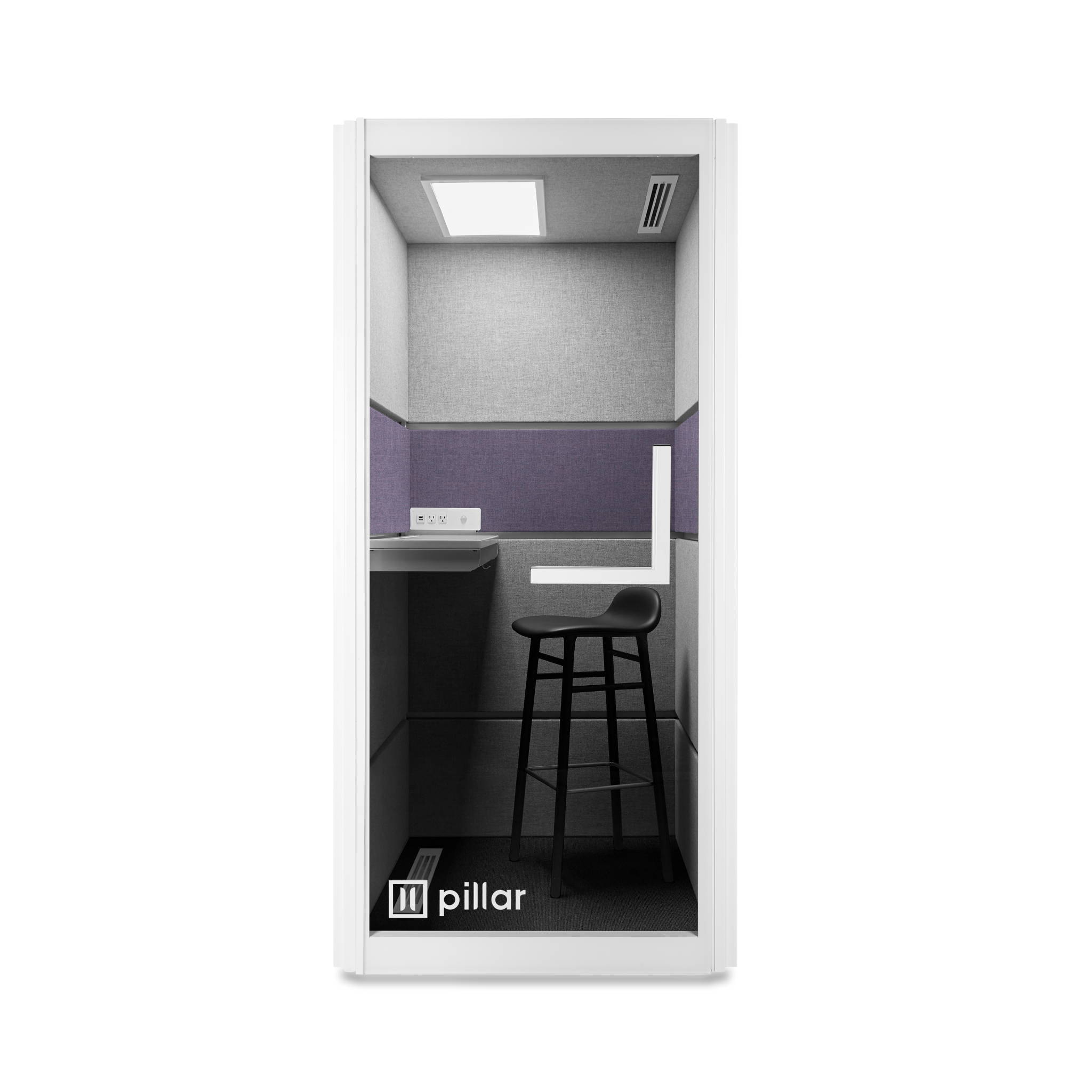 pillar booth amethyst panels