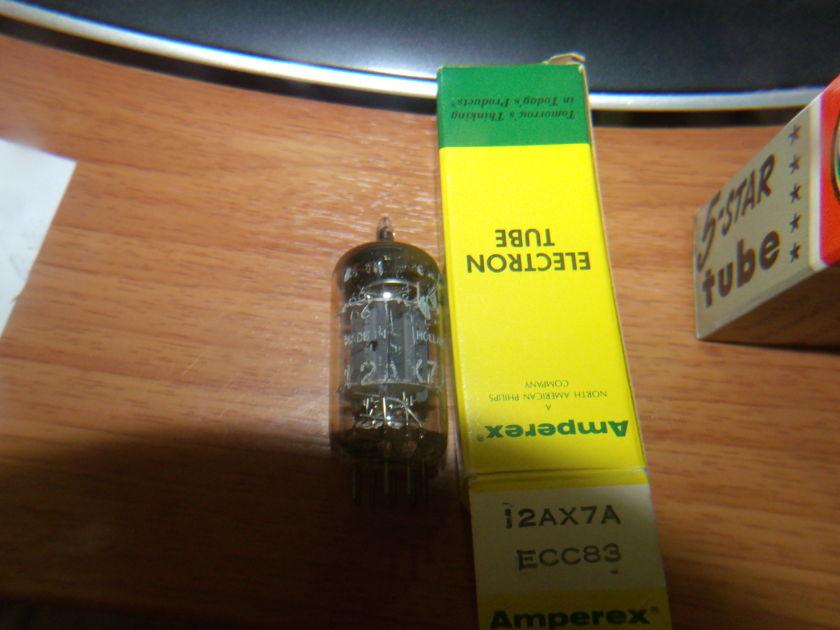 12AX7 / ECC83  AMPEREX HOLLAND 1966 12AX7A / ECC83 NOS NIB  TESTED BALANCED NOS NEW EXCELLENT
