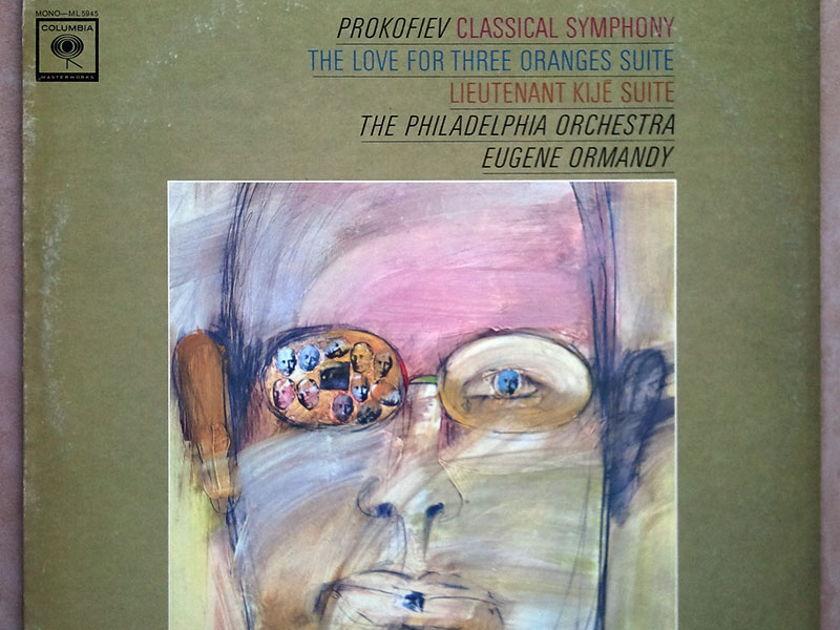 COLUMBIA | ORMANDY/PROKOFIEV - Classical Symphony, The Love for Three Oranges, Lieutenant Kije / VG+