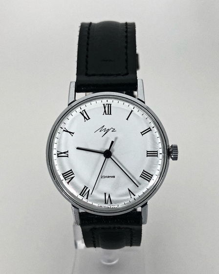 Часы Луч - СССР, ультратонкие, хром