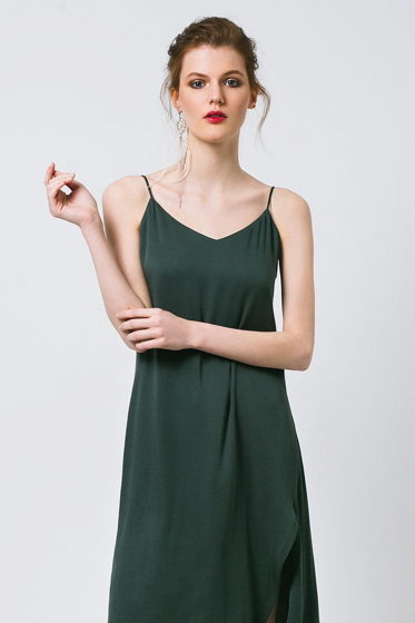 Платье комбинация фисташка