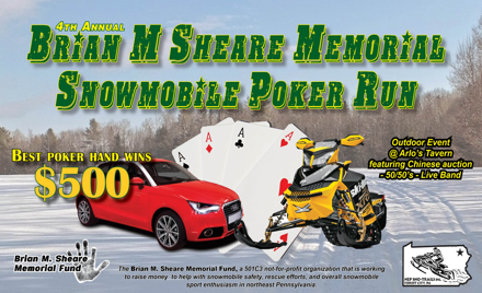 In Memory of Brian M. Sheare Snowmobile Poker Run