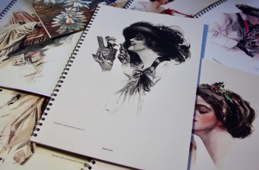 Laminated Notebook/ Sketchbook with hi-resolution scan of authentic illustration БЛОКНОТ/ СКЕТЧБУК