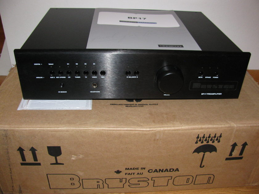 Bryston Bp17 in black 17 inch faceplate - no DAC or phono