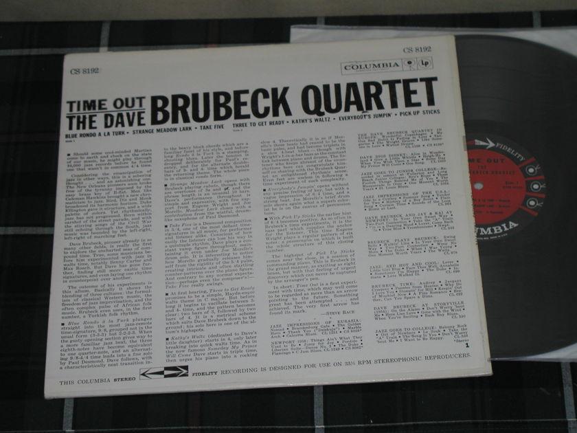 "Dave Brubeck Quartet - ""Time Out"" (Feat. Take Five"") (Pics) Columbia 6 Eye CS 8192"