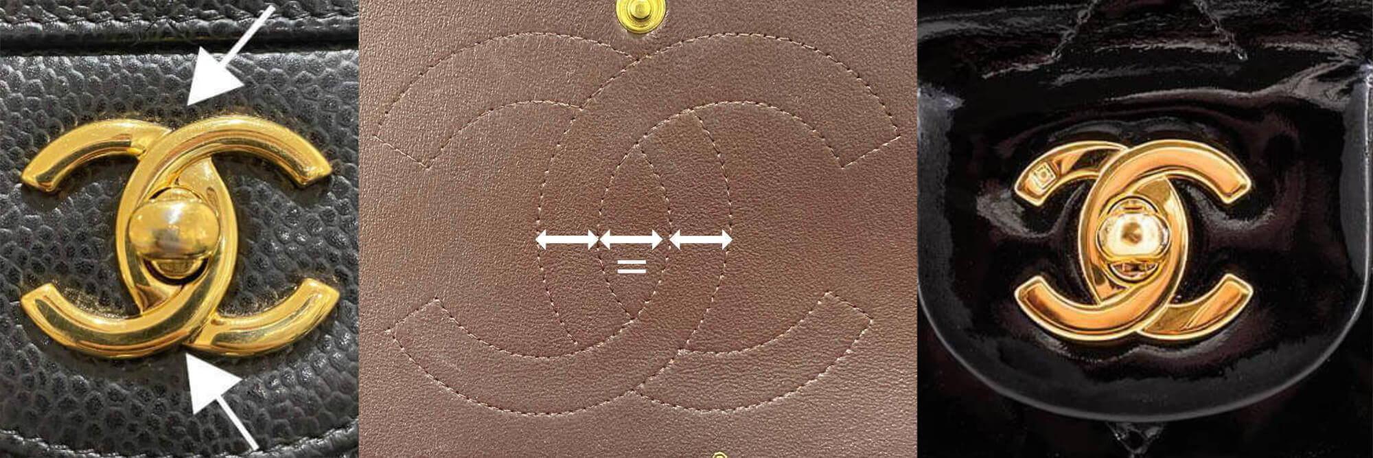 Authentic Chanel logo locks and stitching