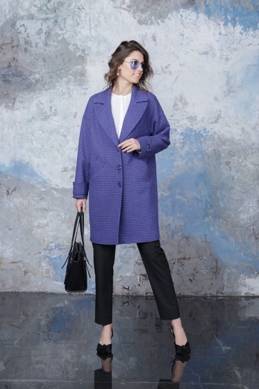 Пальто синее Bonali 7011-0312