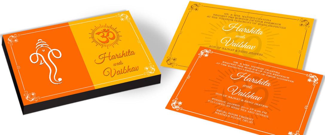 Ganesha Marriage Invitation card