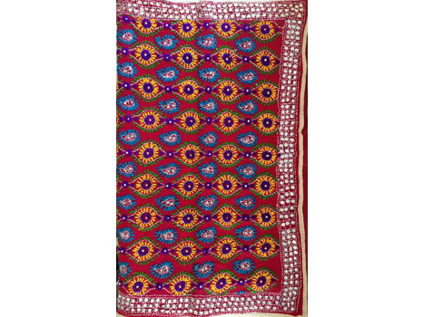 Handmade Oversized Intricate Scarf from India