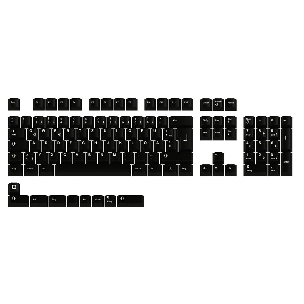 GMK White on Black (ISO-DE)