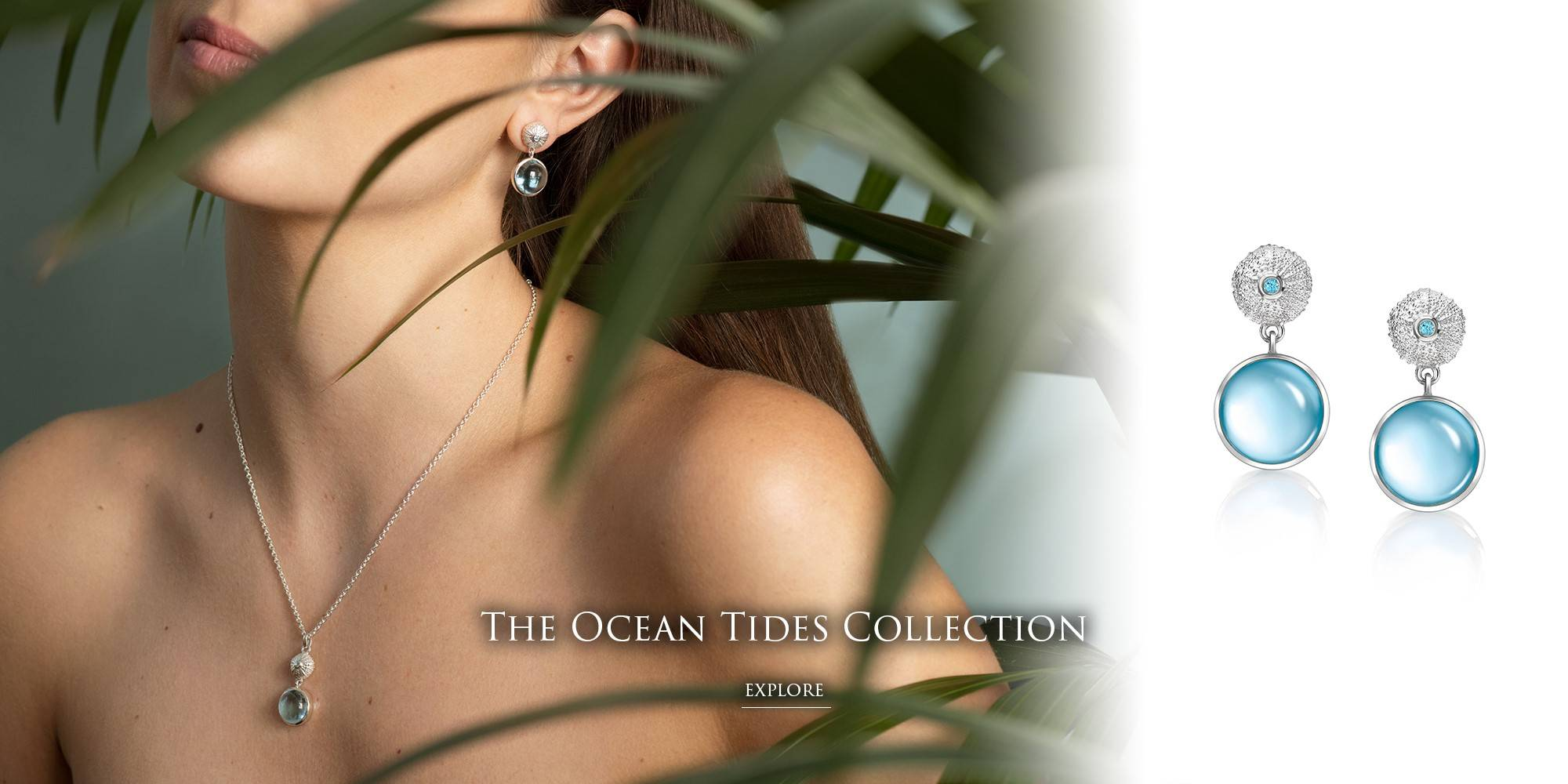 Model Wearing The Ocean Tides Collection