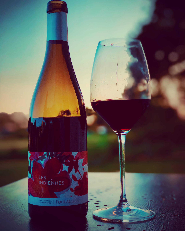 les indiennes 2018, grenache, mas foulaquier, pic saint loup, languedoc,  france, vin nature, rawwine, organic wine, vin bio, vin sans intrants, bistro brute, vin rouge, vin blanc, rouge, blanc, nature, vin propre, vigneron, vigneron indépendant, domaine bio, biodynamie, vigneron nature, cave vin naturel, cave vin, caviste, vin biodynamique, bistro brute