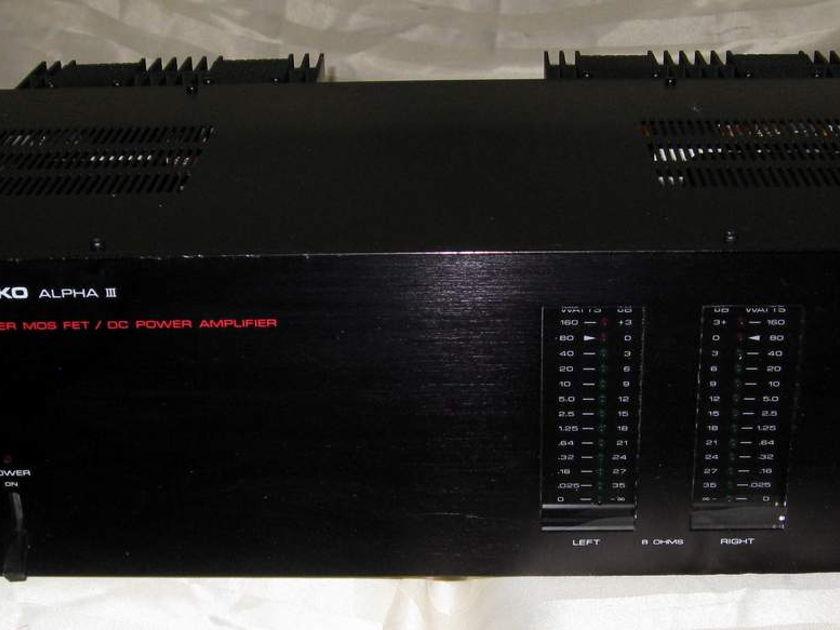 Nikko Alpha mkIII power amplifier