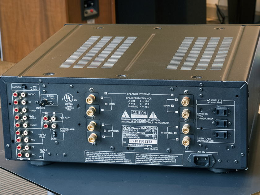 Denon PMA-2000 IV R Integrated Amplifier; 80w x 2. With MM/MC Phonostage