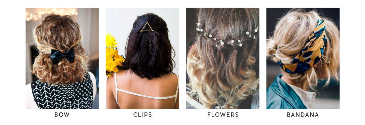 easy hairstyles with accessories