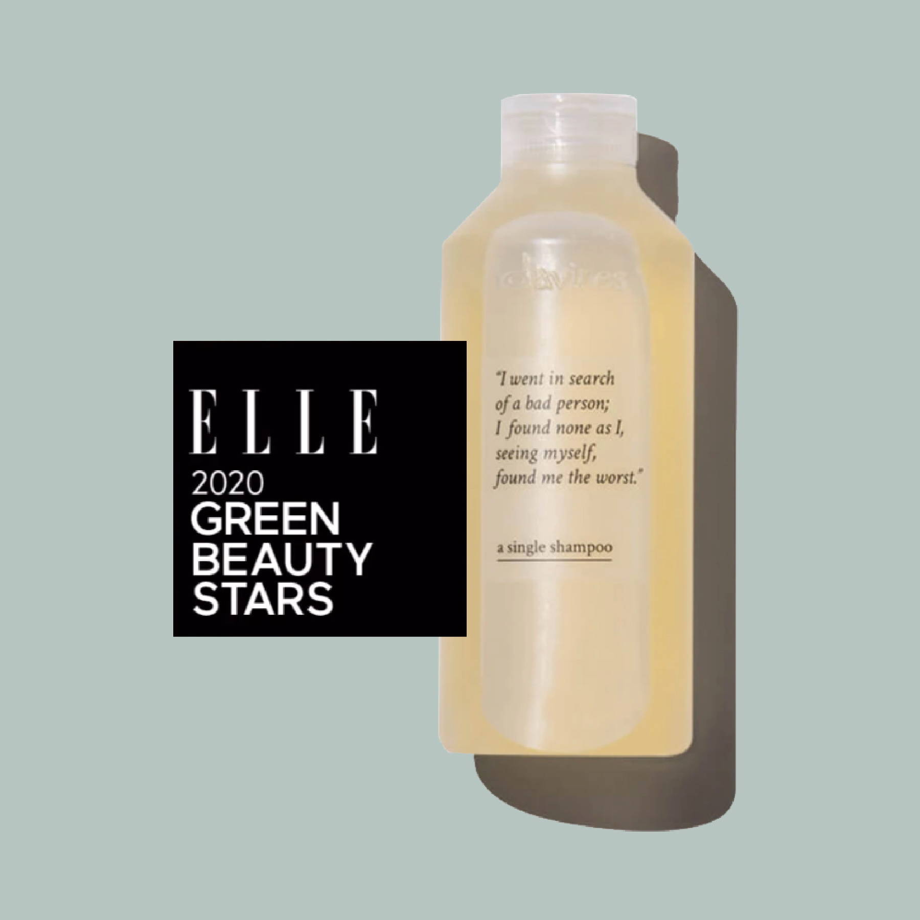A Single Shampoo award winning Elle