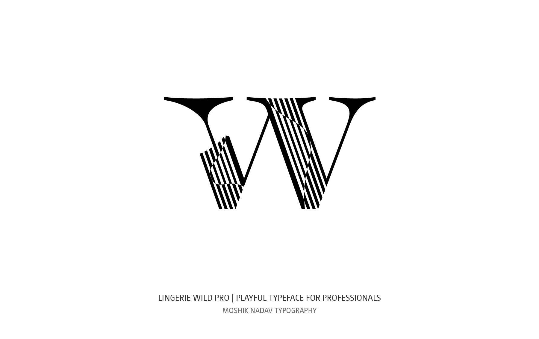 Lingerie Wild Pro typeface designed by Moshik Nadav Typography