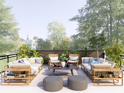How to design a roof terrace