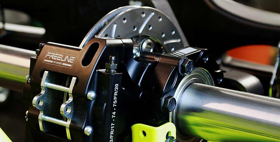 Freeline self adjusting brake system with 180mm floating rotor