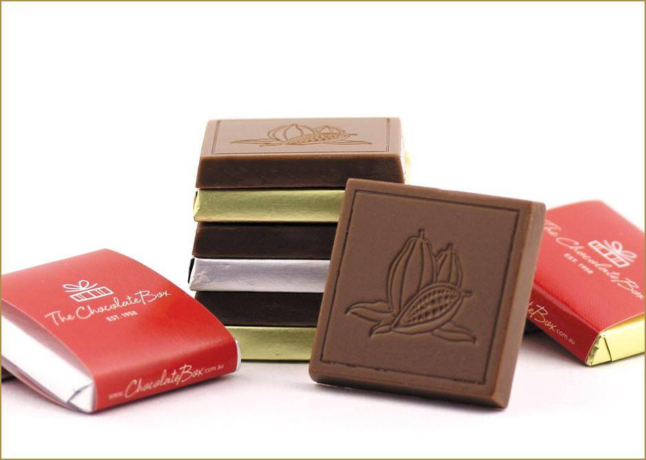 Print your own wrapper on these chocolate tablets