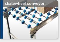 small conveyor system freestanding gravity
