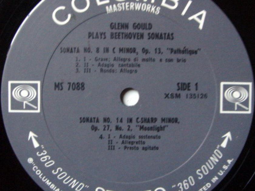 Columbia 2-EYE / GLENN GOULD, - Beethoven Piano Sonatas No.8, 14 & 23, VG+!