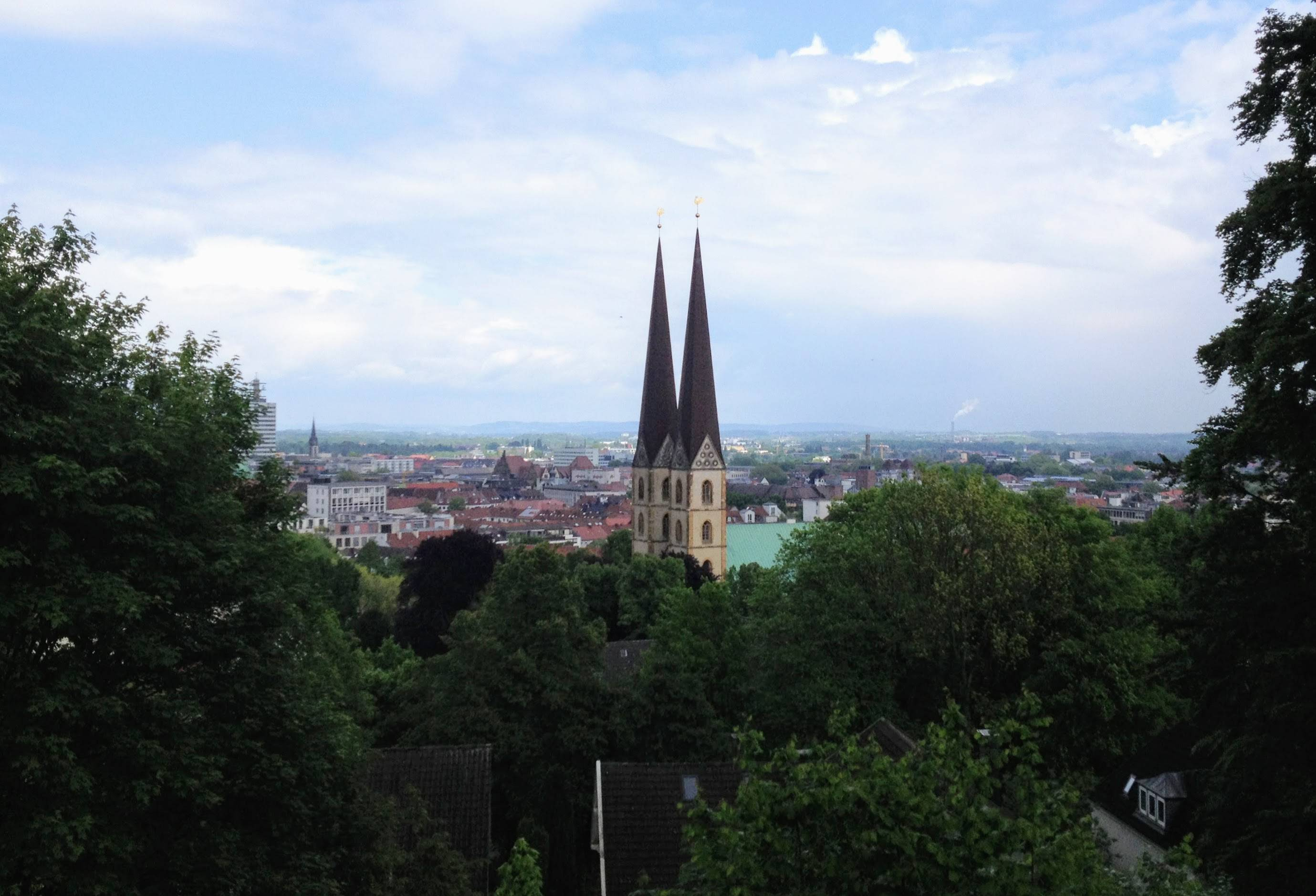 Fahrrad mieten in Bielefeld - Ausblick von der Sparrenburg