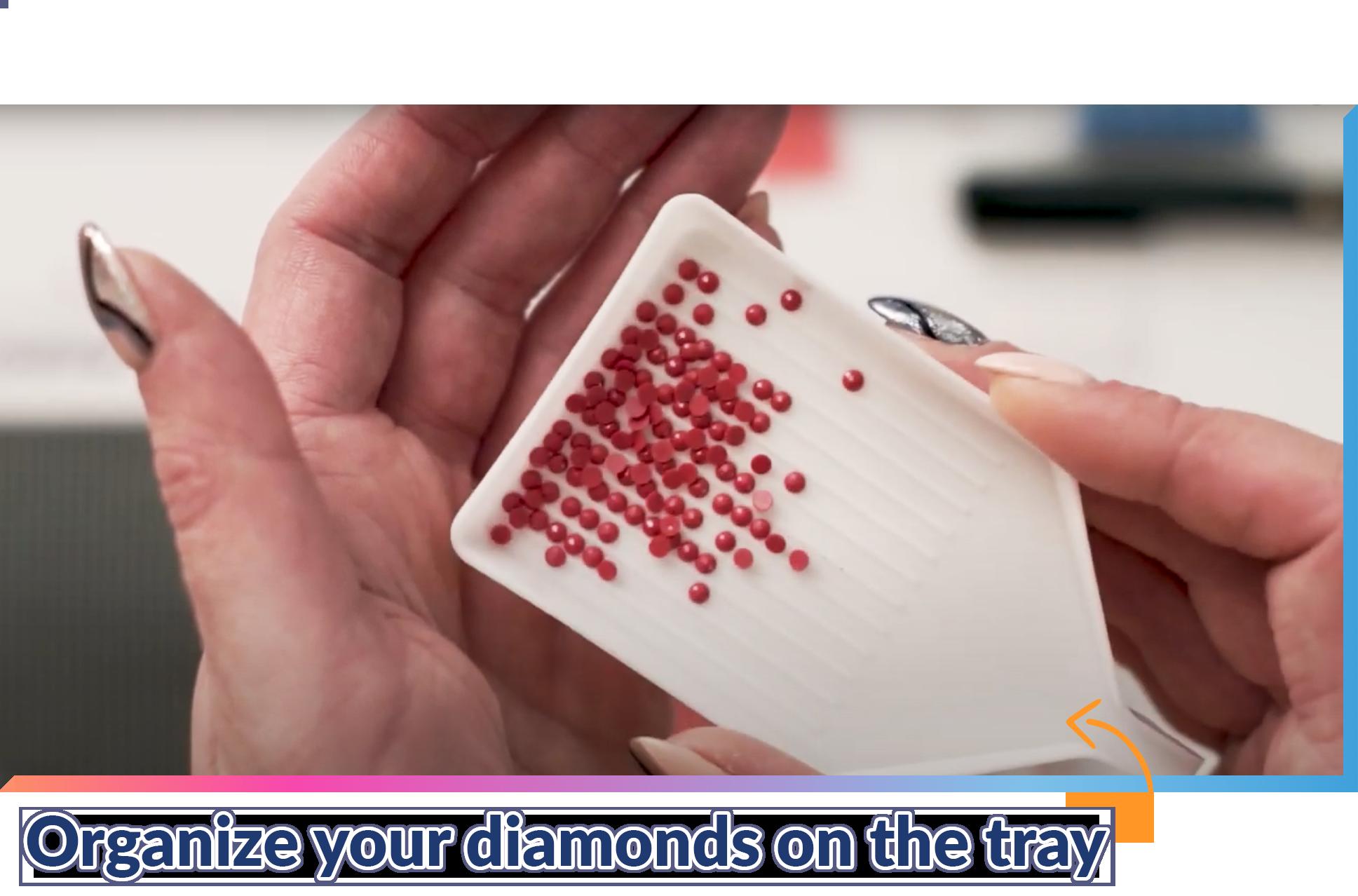Line up your diamonds.