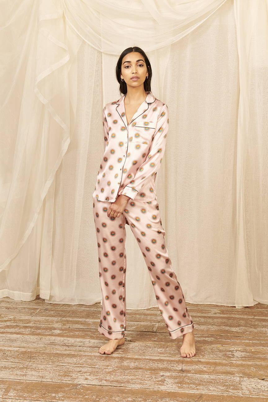 Soleil Women's Classic Silk Pyjama Set | YOLKE