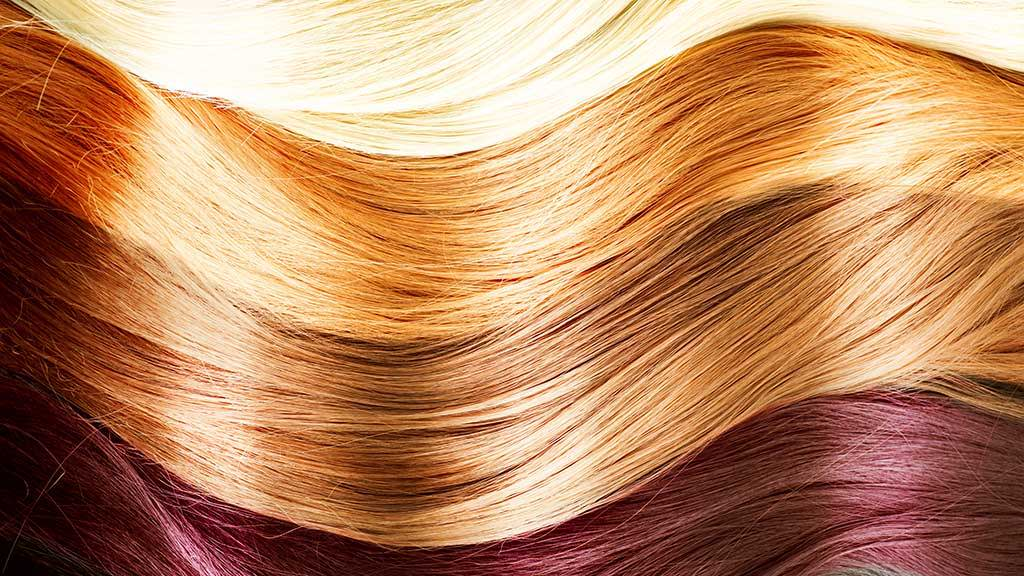 hair colors close up