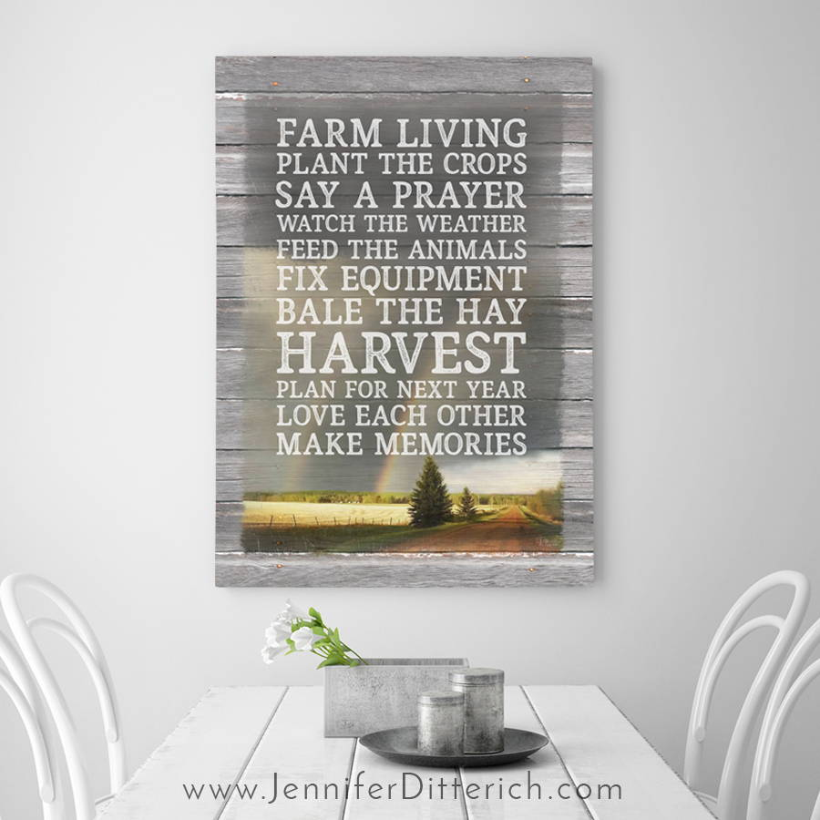 Custom Farm Rules Print
