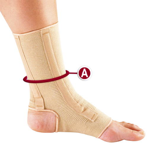 ANKLE SUPPORT MEASUREMENT LOCATION