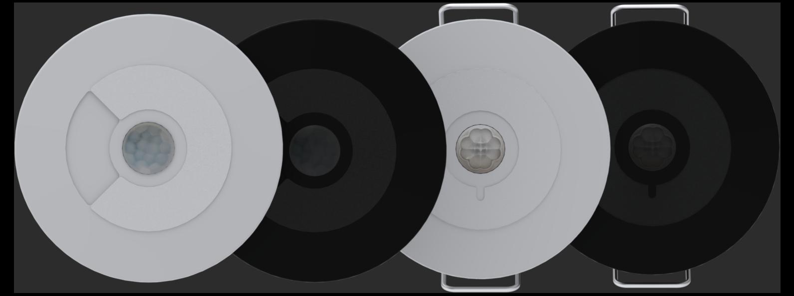 Faradite Bewegungsmelder 360 potenzialfrei und IP67 potenzialfrei in schwarz und weiß
