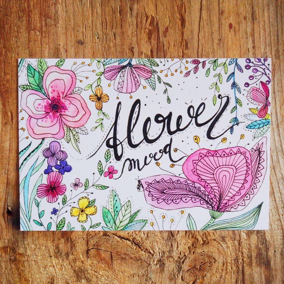 Открытка подарочная Flower mood