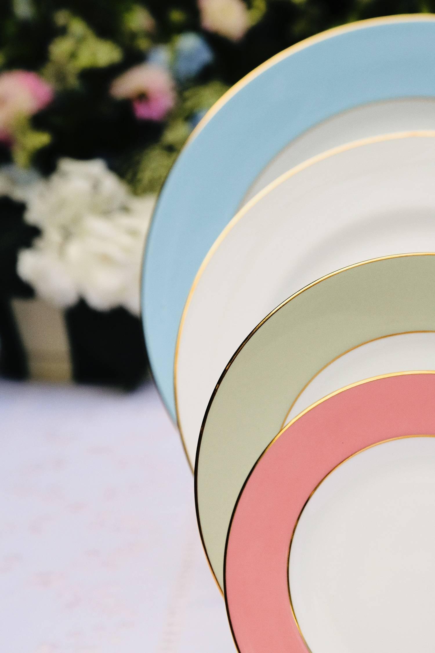 bone china dinner set colour border