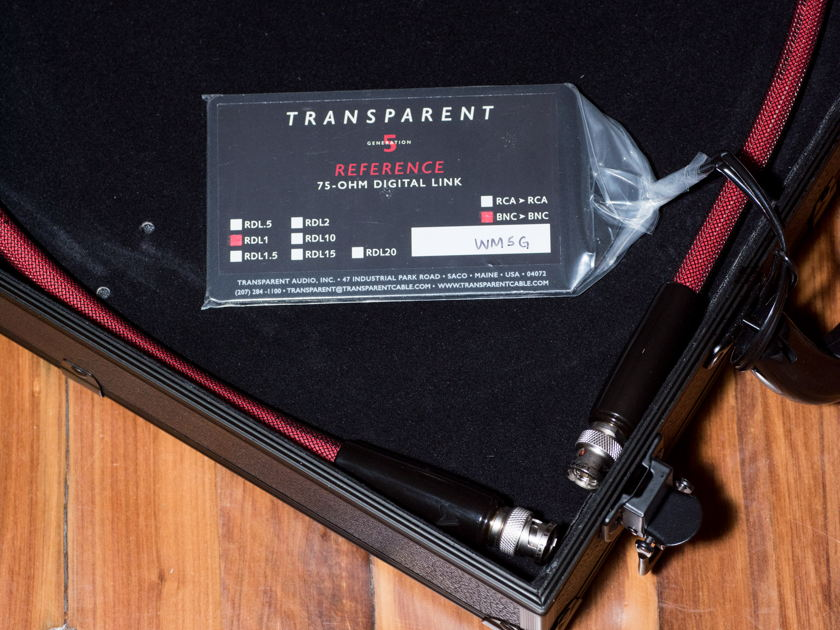 Transparent Audio Reference 75 Ohm Digital BNC