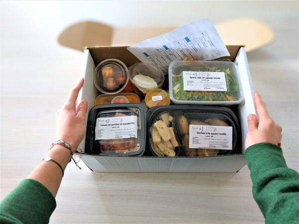 box régime ouverte avec vision sur les plats